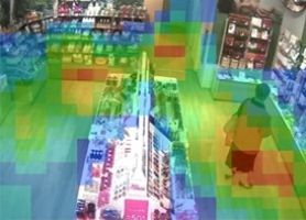 Heat Map Video Surveillance Retail