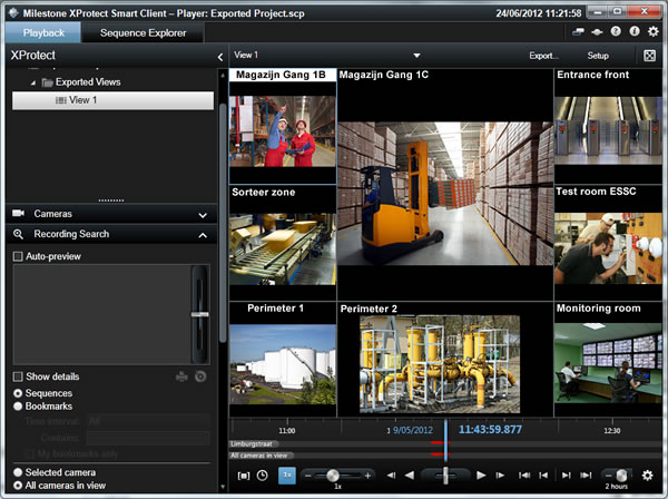 video camera smart client